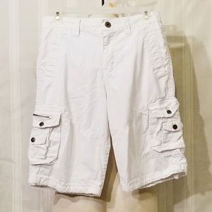 Boys Ring of Fire White Cargo Shorts Size 16